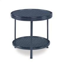 Augustine Metal Side Table W/ Tempered Glass