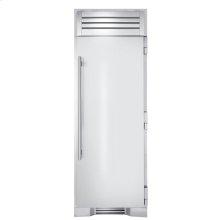 30 Inch Stainless Door Freezer Column - Left Hinge Stainless Solid