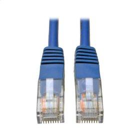 Cat5e 350MHz Molded Patch Cable (RJ45 M/M) - Blue, 5-ft.