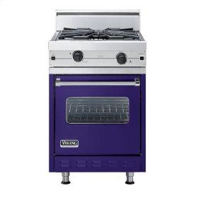 "Cobalt Blue 24"" Wok/Cooker Companion Range - VGIC (24"" wide range with wok/cooker, single oven)"