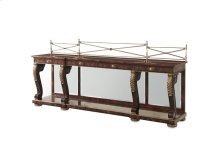A Mahogany Breakfront Buffets / Sideboards
