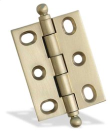 "2"" x 1 1/2"" Mortised Hinge/Ball Tip - Satin Brass"