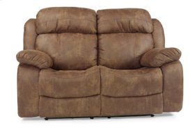 Como NuvoLeather Power Reclining Love Seat
