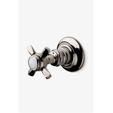 Astoria Volume Control Valve Trim with Metal Hexagonal Cross Handle STYLE: ATVC44