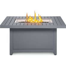 Hamptons Rectangle Patioflame® Table , Grey , Propane