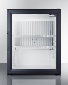 Silent Solid State Minibar With Glass Door and Black Cabinet