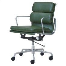 Chandel PU Low Back Office Chair, Vintage Asparagus