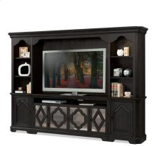 Corinne Entertainment Console Ebonized Acacia finish