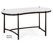 Bronze Kidney Desk with Glass Top
