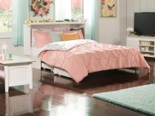 Madison Murphy Bed Chest Queen White with Charging Station