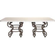 Ernest Hemingway Florentine Round Dining Table - 84 X 44 Double Pedestal