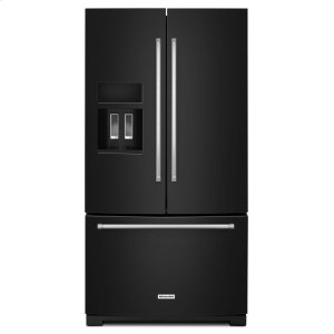 KITCHENAID26.8 cu. ft. 36-Inch Width Standard Depth French Door Refrigerator with Exterior Ice and Water - Black