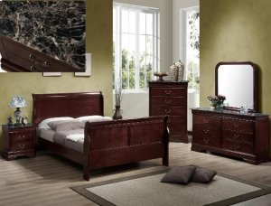 Louis Philip Queen Size Bed