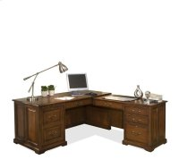 Cantata L Computer Workstation Burnished Cherry finish Product Image