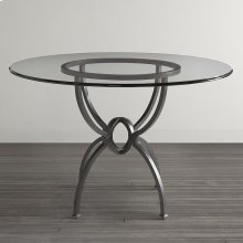 "Custom Dining 60"" Glass Table w/Atlas Tall"