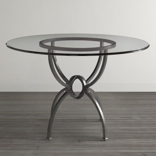 "Custom Dining 60"" Glass Table w/Turned Base"