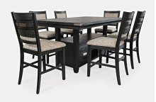 Altamonte Counter Height Dining Table With Six Uph Stools - Dark Charcoal