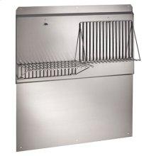"54"" Backsplash with shelves in Stainless Steel"