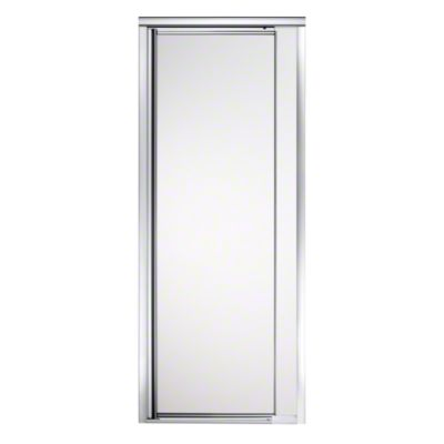 "Vista Pivot™ II Shower Door - Height 65-1/2"", Max. Opening 27-1/2"" - Silver with Frosted Glass Pattern"