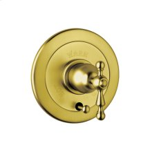 Inca Brass Arcana Volume Control Pressure Balance Trim With Diverter with Arcana Cross Handle