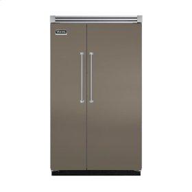 "Stone Gray 48"" Quiet Cool™ Side-by-Side Refrigerator/Freezer - VISB Tru-Flush™ (48"" wide)"