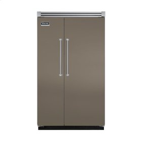"Stone Gray 48"" Quiet Cool™ Side-by-Side Refrigerator/Freezer - VISB Tru-Flush™ (48"" wide)"