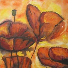 Art: Orange Poppies