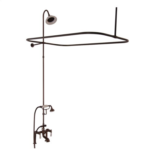 Tub/Shower Converto Unit - Elephant Spout, Shower Ring, Riser, Showerhead, Lever Handles - Oil Rubbed Bronze
