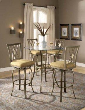 Brookside 3pc Bistro Set W/ Diamond Barstools
