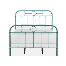 Complete Full Metal Bed - Blue