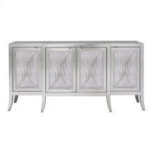 Accents Silver Leaf/Antique Credenza