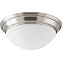 """One-Light 11"""" LED Frosted Glass Flush Mount"""