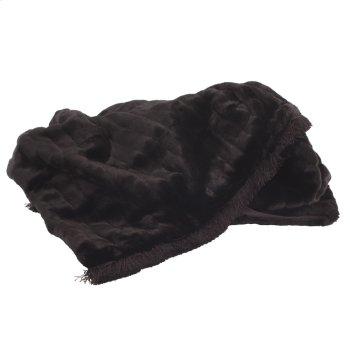 Throw Mink Black with Fringe Product Image
