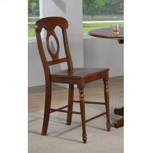 DLU-ADW-B50-CT-2  Andrews Napoleon Barstool  Chestnut  Set of 2