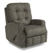 Devon Fabric Rocking Recliner with Nailhead Trim