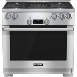 MieleHR 1135 G 36 inch range All Gas with DirectSelect, Twin convection fans and M Pro dual stacked burners