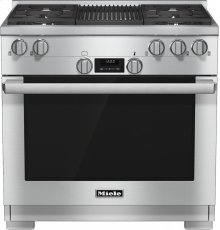 HR 1135 G 36 inch range All Gas with DirectSelect, Twin convection fans and M Pro dual stacked burners