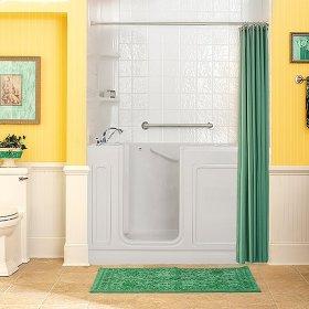 Acrylic Luxury Series 32x60 Air Bath Walk-in Tub with Tub Filler, Left Drain  American Standard - White