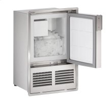 """14"""" Marine Crescent Ice Maker Stainless Solid Field Reversible (Flush to Door)"""