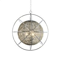 3-Light Contemporary Orb Chandelier in Chrome Fini Product Image