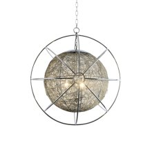 3-Light Contemporary Orb Chandelier in Chrome Fini
