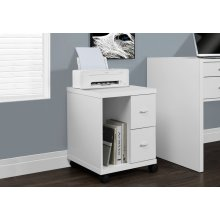 OFFICE CABINET - WHITE WITH 2 DRAWERS ON CASTORS