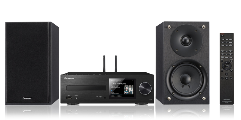 This comprehensive mini system option includes hi-res audio playback and Spotify(R) at the ready.