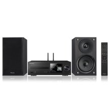 This comprehensive mini system option includes hi-res audio playback and Spotify® at the ready.