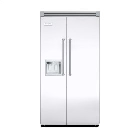 "White 42"" Side-by-Side Refrigerator/Freezer with Dispenser - VISB (Integrated Installation)"
