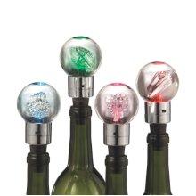 Lighted Shimmer Shell Bottle Topper (4 asstd)
