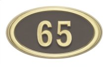 Small Oval HouseMark ® Address Plaques
