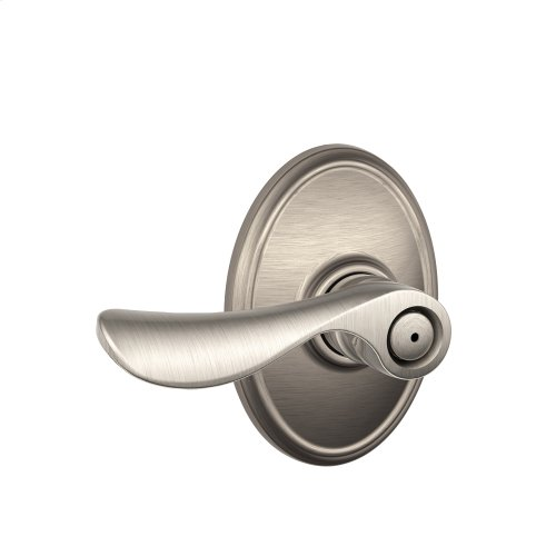 Champagne Lever with Wakefield trim Bed & Bath Lock - Satin Nickel