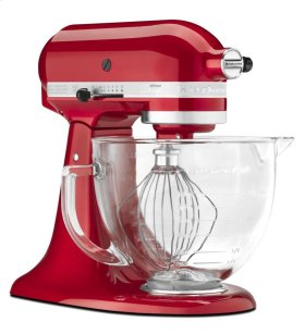 Artisan® Design Series 5-Quart Tilt-Head Stand Mixer with Glass Bowl - Candy Apple Red