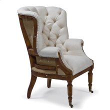 Clarissa Deconstructed Wing Chair (white Linen)